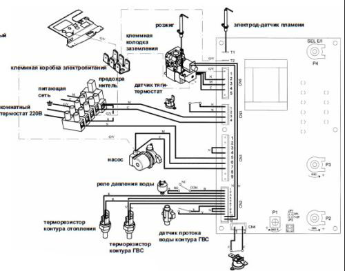 Электрическая схема MAIN 24 i